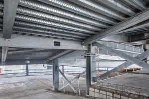 steel decking used for car park construction