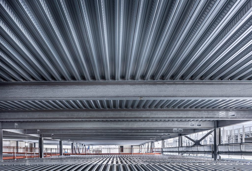 kingspan magnelis steel decking used for car park construction