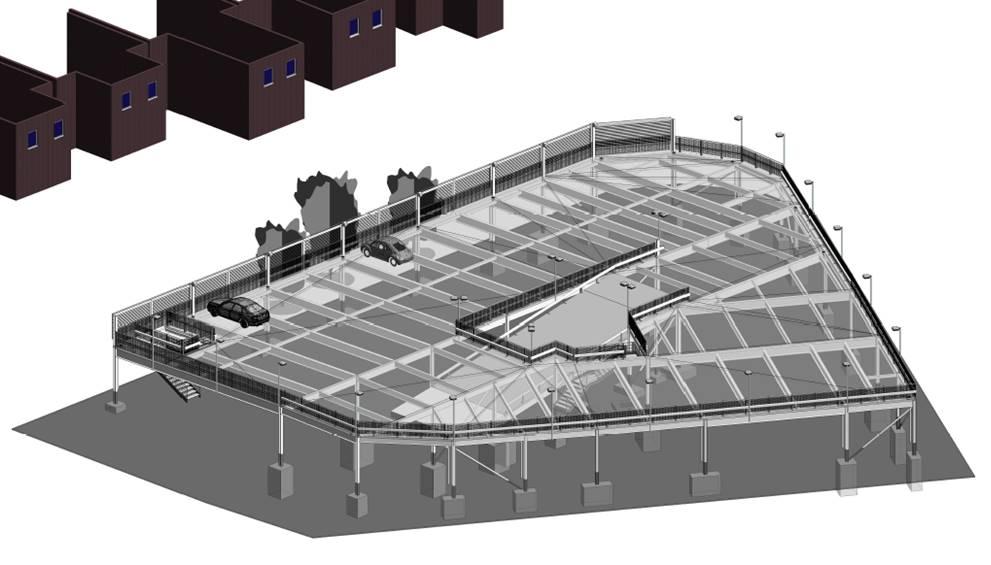 car park design using a one way flow