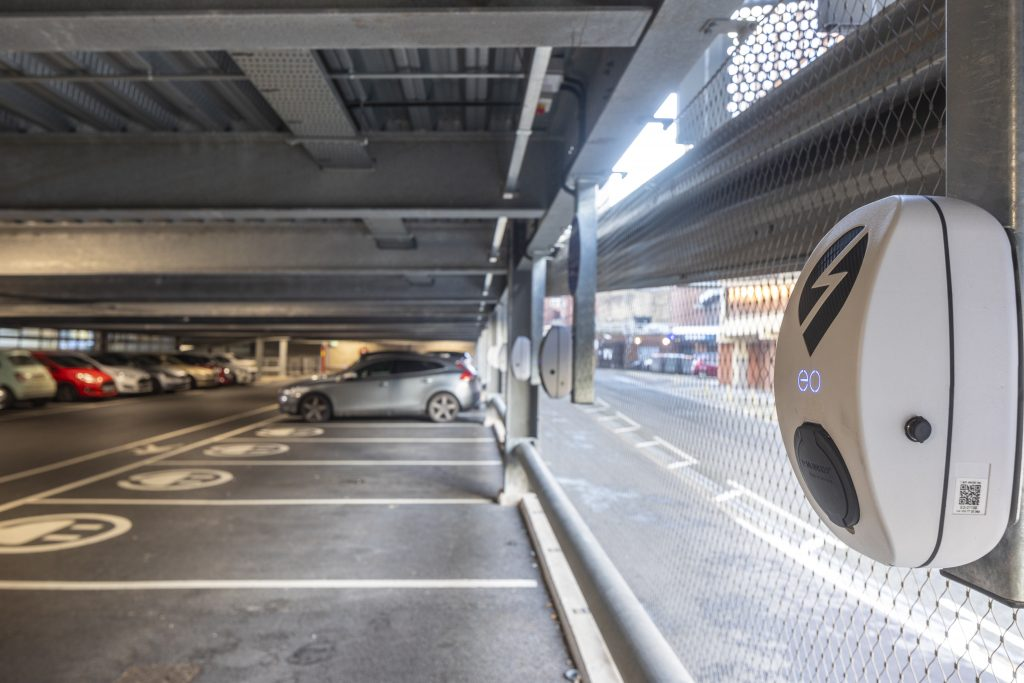 EV Charging Point in a Car Park