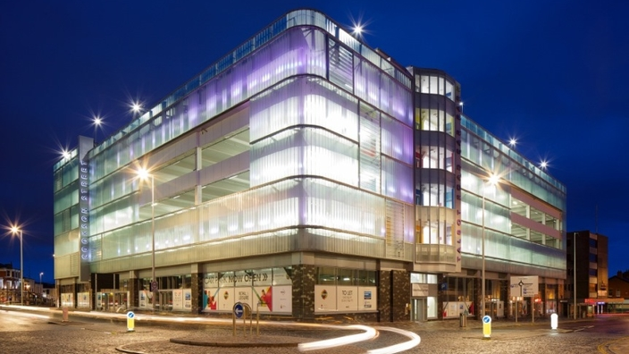 First ever UK Multi storey car park in Blackpool now refurbished by Muse Developments
