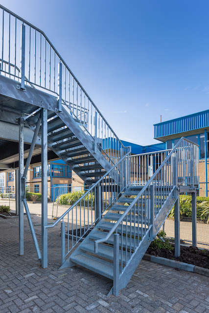 car park steel access stairs