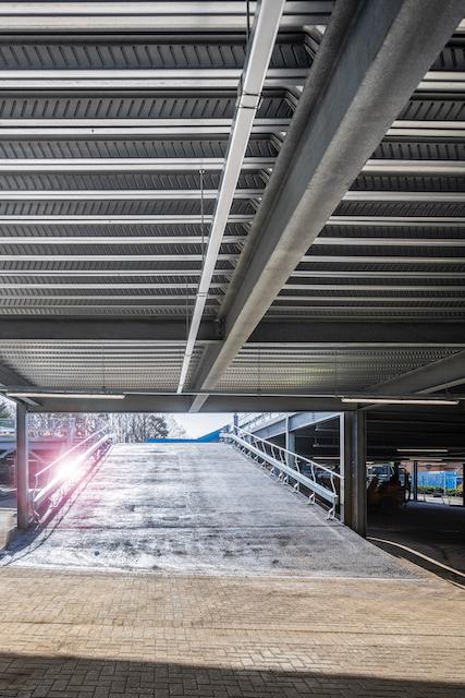 car park ramp on raised deck car park in fareham