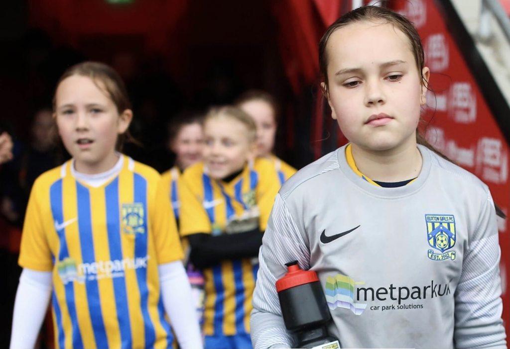 Euxton Under 9 Girls Football Team Sponsored by Metpark UK