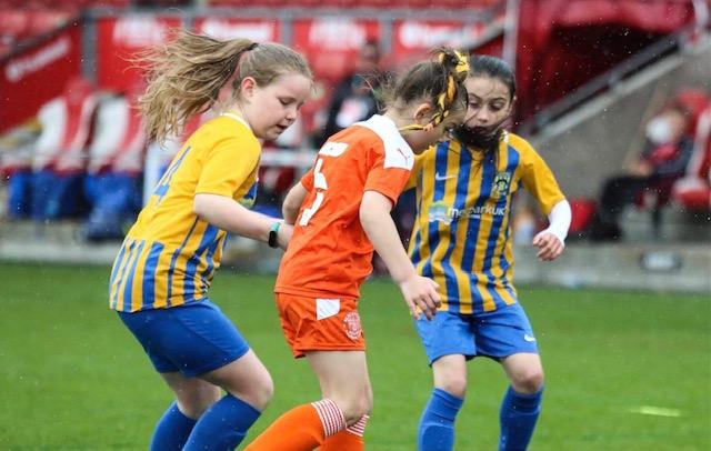 Wet weather didn't put off Euxton Girls Under 9's