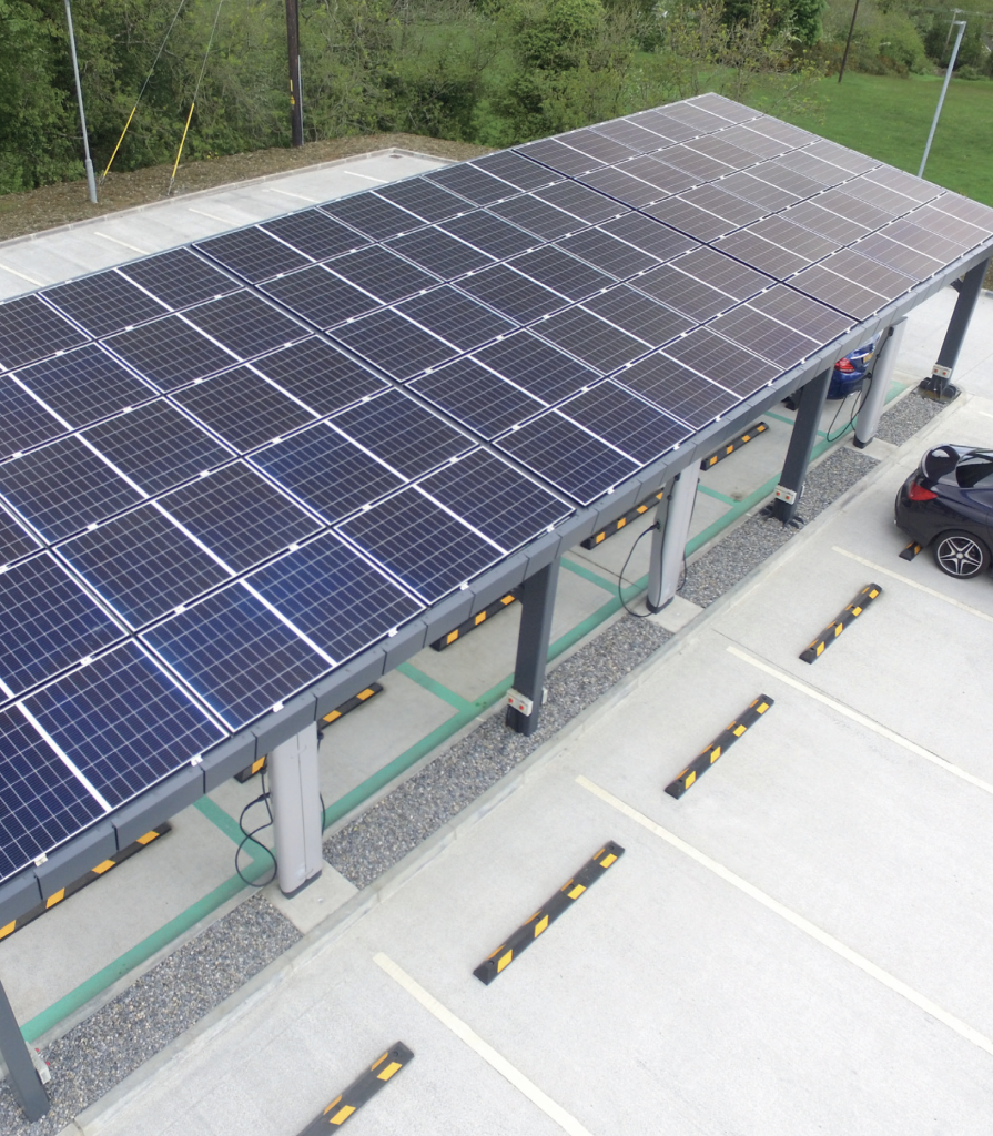 solar electric vehicle charging